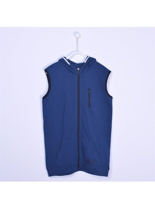 Navy Blue - Boys` Vest - Silversun