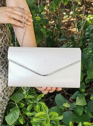 White - Ecru - Satchel - Clutch - Clutch Bags / Handbags