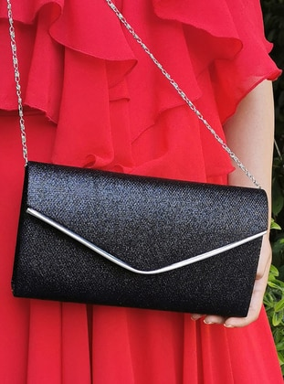 Black - Satchel - Clutch - Clutch Bags / Handbags