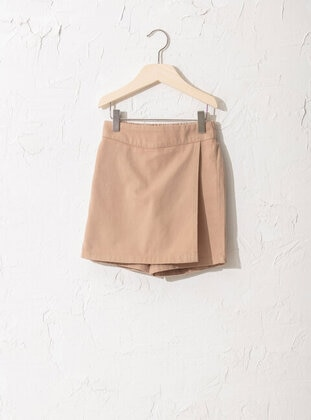 Beige - Girls` Shorts - LC WAIKIKI