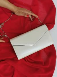 White - Ecru - Satchel - Clutch - Clutch Bags / Handbags
