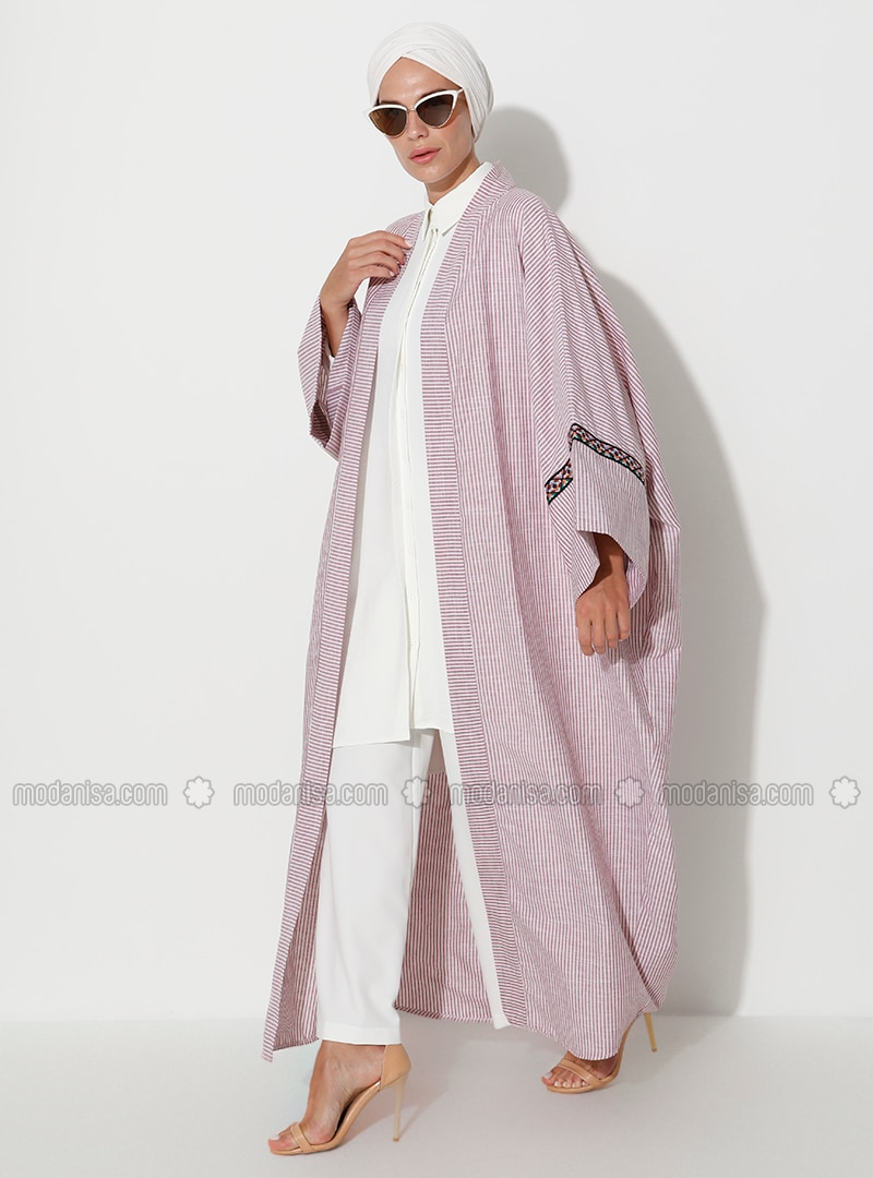 Terra Cotta - Stripe - Unlined -  - Abaya