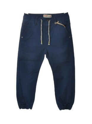 Navy Blue - Boys` Pants - Silversun