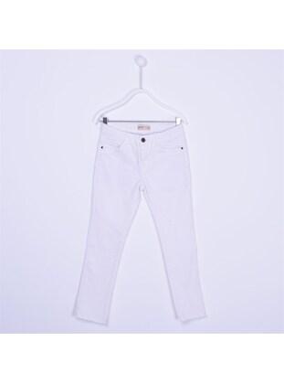 White - Girls` Pants - Silversun