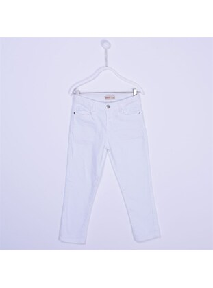 White - Girls` Pants - Silversun