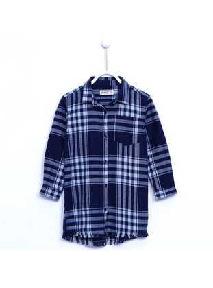 Navy Blue - Girls` Shirt - Silversun