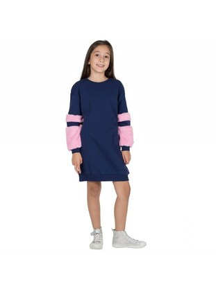 Navy Blue - Girls` Dress - Silversun