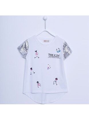 White - Girls` T-Shirt - Silversun