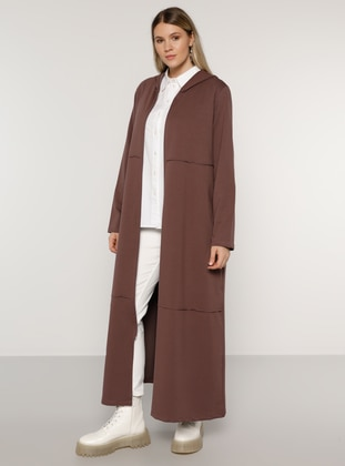 Purple - Unlined -  - Plus Size Coat