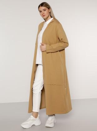 Stone - Unlined -  - Plus Size Coat