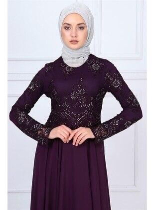 Purple - Muslim Evening Dress