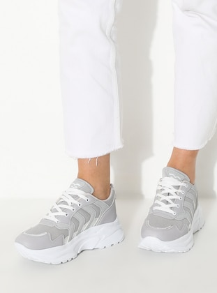 Gray - Silver tone - Sport - Sports Shoes