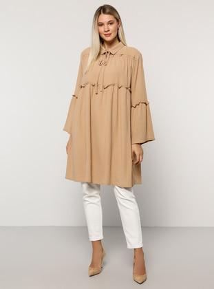 Stone - Point Collar - Plus Size Tunic - Alia