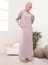 Purple - Pink - Unlined -  - Dress