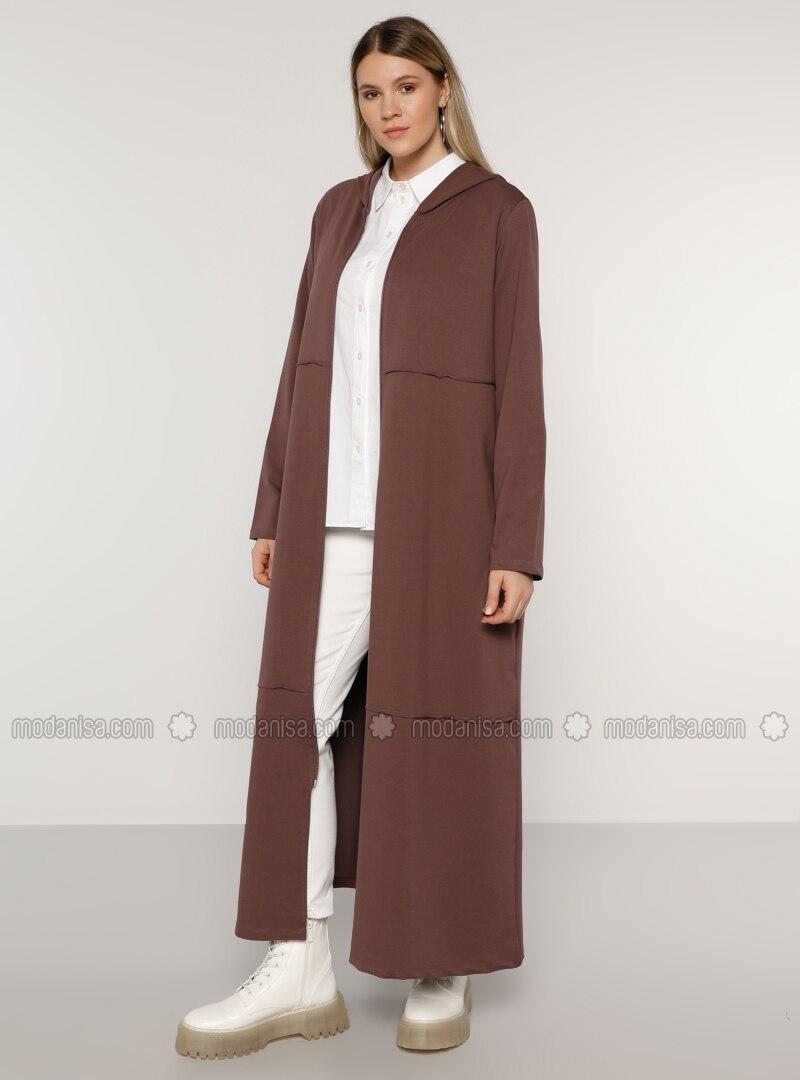 Purple - Unlined -  - Plus Size Coat