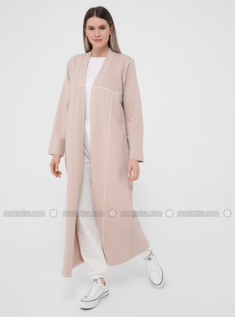 Ecru - Powder - Unlined - - Plus Size Coat