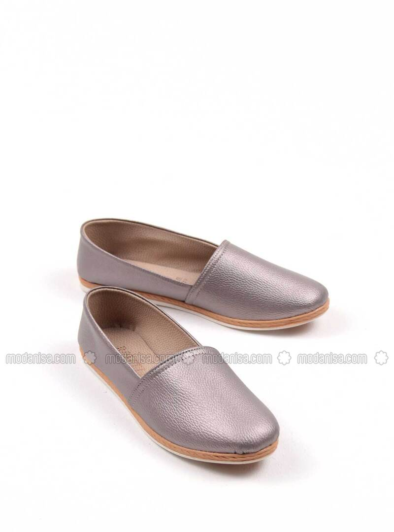 Silver - Flat shoes