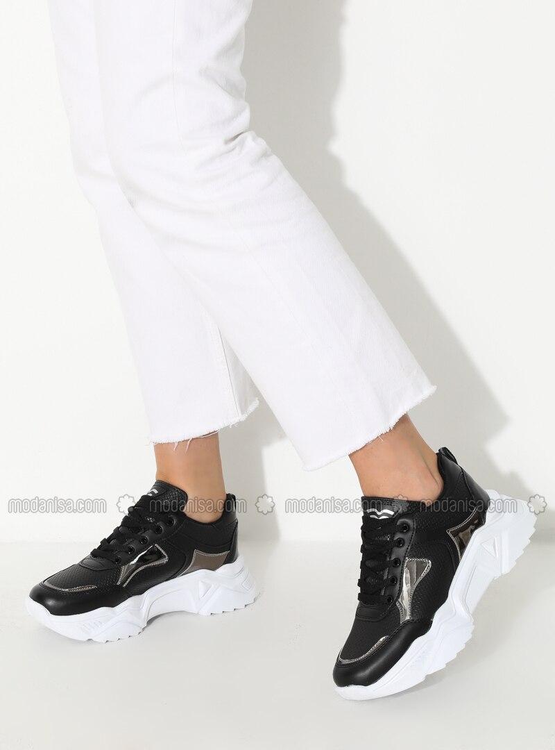 Silver - Black - Sport - Sports Shoes