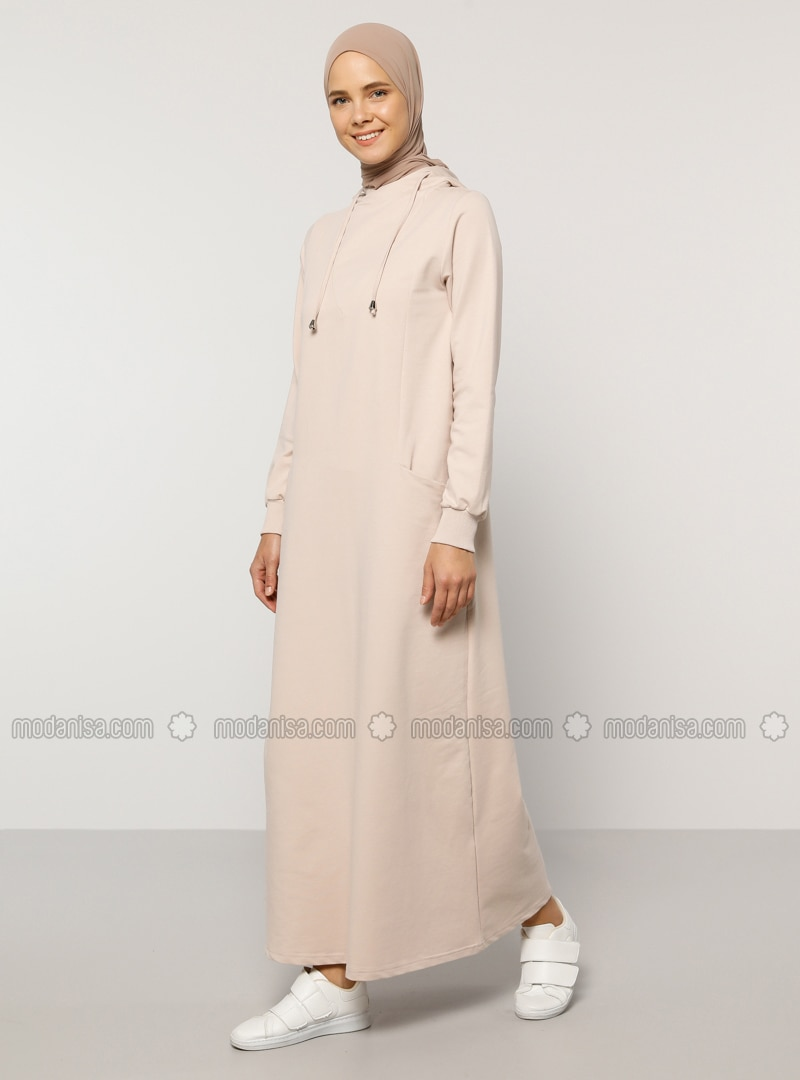 Beige - Unlined -  - Dress