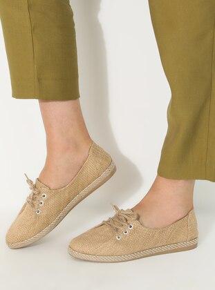 Beige - Flat Shoes