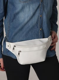 White - Satchel - Bum Bag