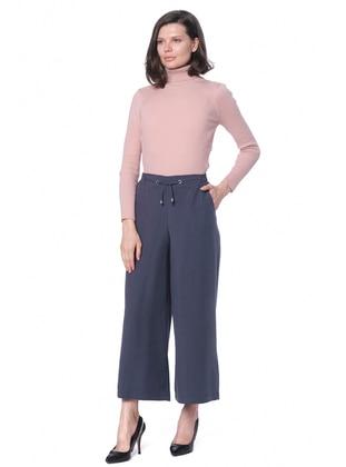 Navy Blue - Lyocell - Pants