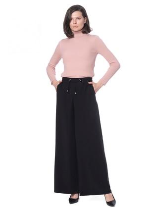 Black - Lyocell - Pants