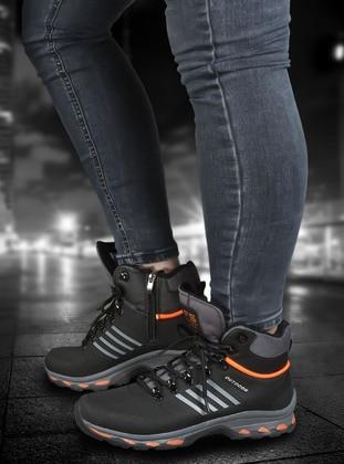 Smoke - Black - Orange - Boot - Boots