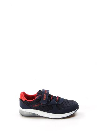 Red - Navy Blue - Sport - Girls` Shoes - Fast Step