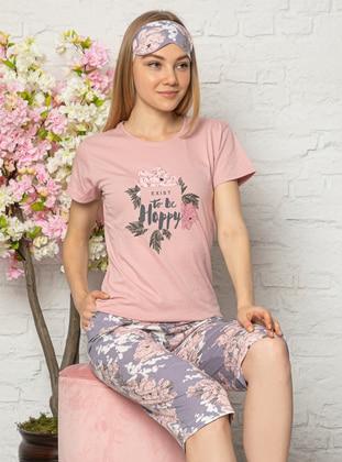 Rose - Crew neck - Multi -  - Pyjama Set