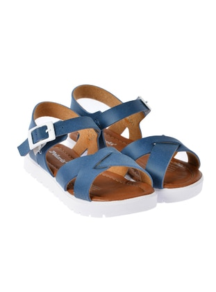 Navy Blue - Girls` Sandals