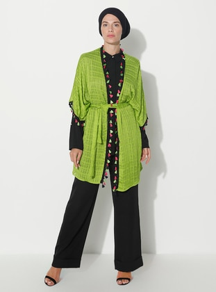 Green - Unlined - Abaya