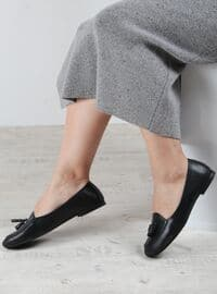 Black - Flat - Flat Shoes