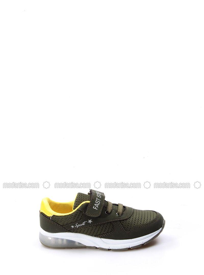 Khaki - Sport - Girls` Shoes