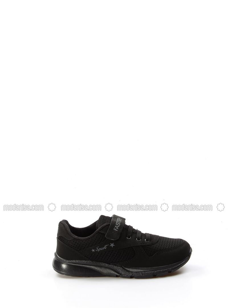 Black - Sport - Casual - Girls` Shoes