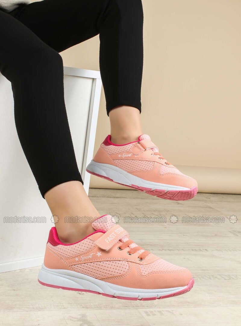 Salmon - Fuchsia - Sport - Casual - Girls` Shoes