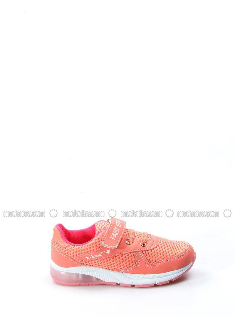 Salmon - Fuchsia - Sport - Girls` Shoes