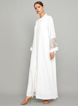 White - Unlined - Abaya