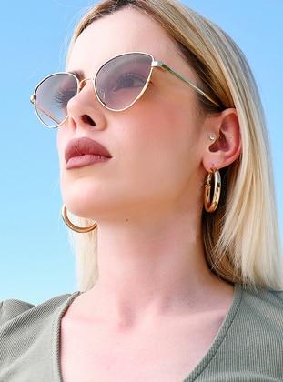 Gold - Rose - Sunglasses