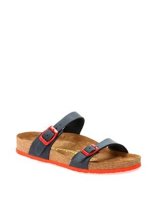Red - Navy Blue - Sandal - Slippers