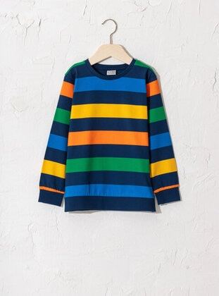 Navy Blue - Boys` T-Shirt - LC WAIKIKI