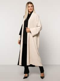 Black - Stone - Unlined - Plus Size Coat