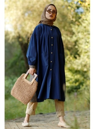 Indigo - Trench Coat - GİZCE