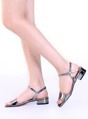 Anthracite - Sandal - High Heel - Heels