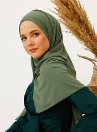 Khaki - Plain - Coolmax - Shawl -  Şal