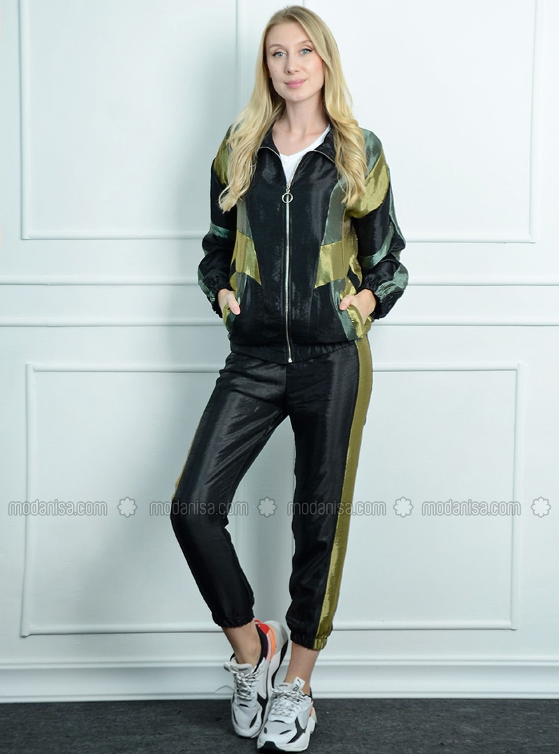 Khaki - Unlined - Point Collar - Acrylic - Puffer Jackets