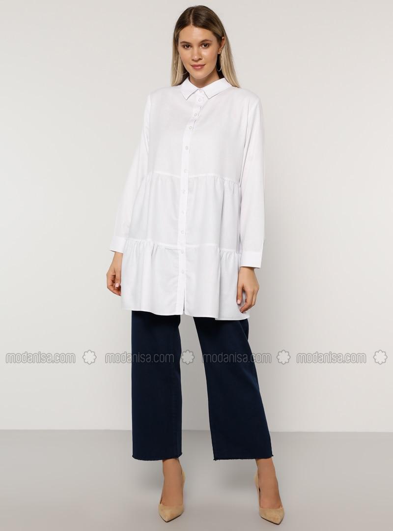 Indigo - Denim -  - Plus Size Pants