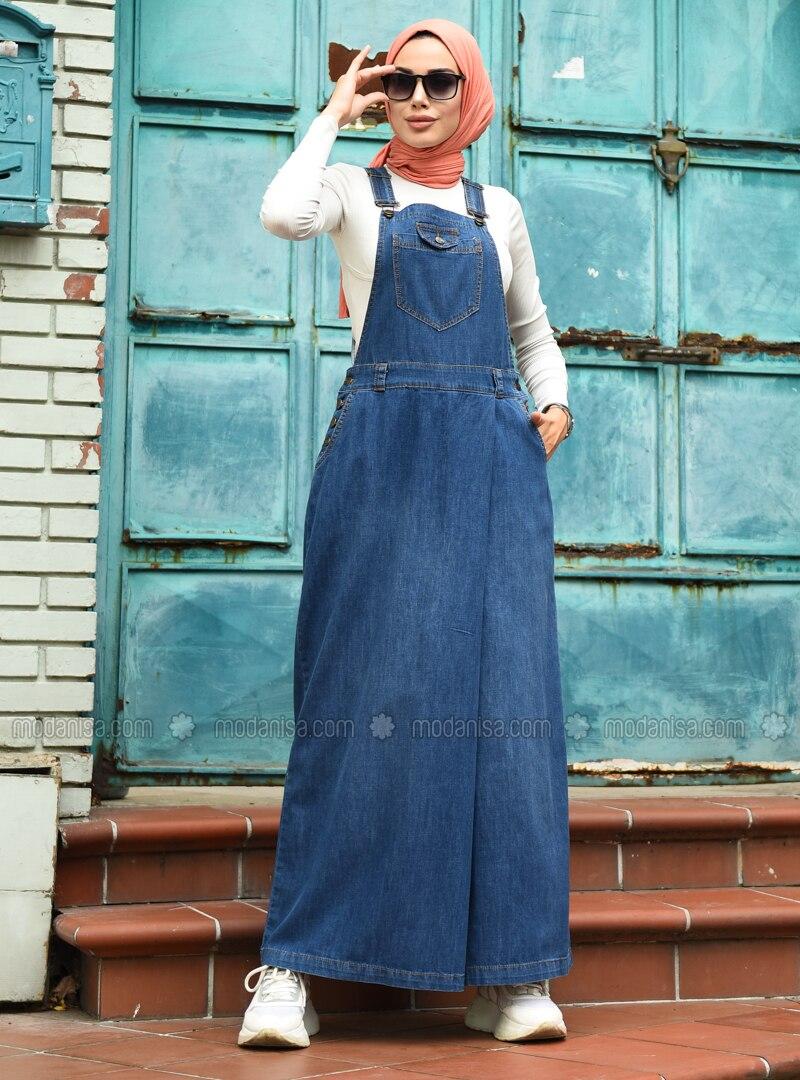 Blue - Denim -  - Culottes