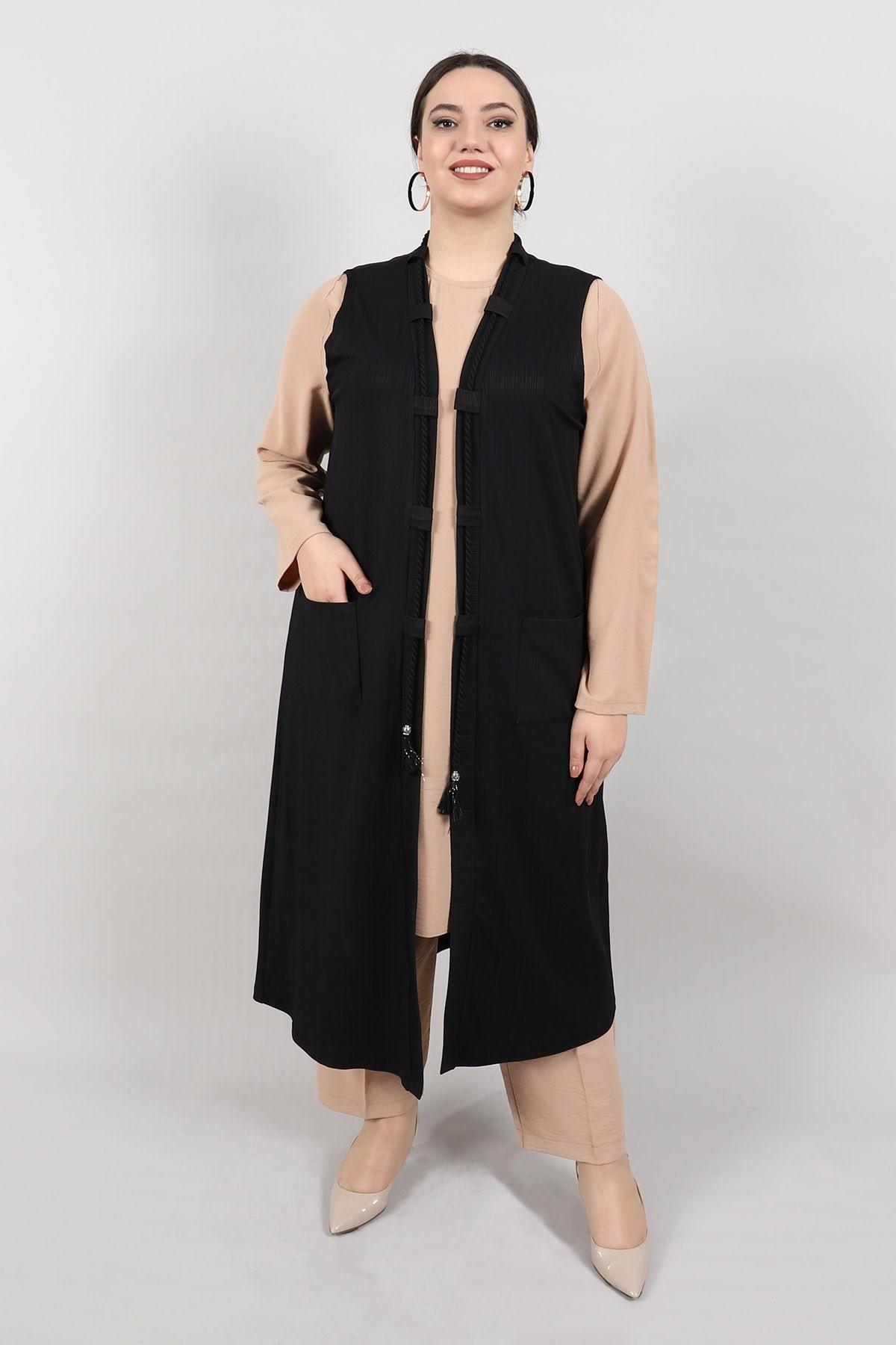 Plus Size Vest KadoModa Black