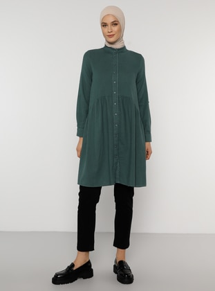 Emerald - Zebra - Button Collar -  - Tunic